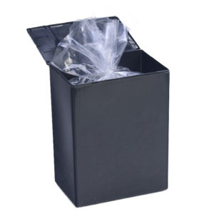 Plastic Temporary Cremains Container Black